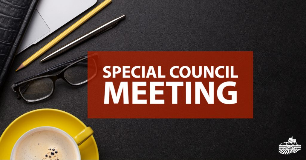 Special Council Meeting: Feb. 18, 2020