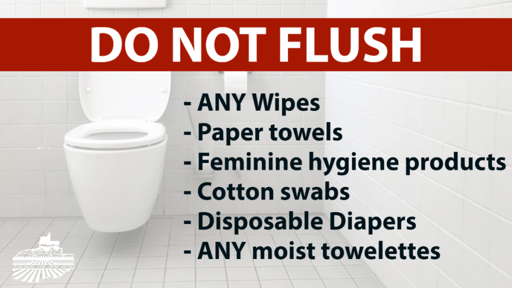 Important Notice - Wipes & Personal Hygiene Products Clog Sewer Lines
